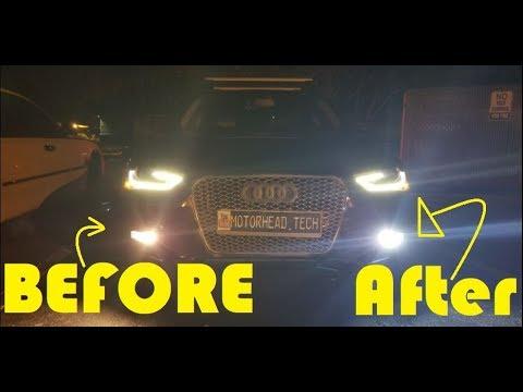 Easy Install Audi A4 Led H11 Fog Lights Upgrades On B85 B8 Youtube