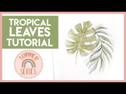 NO SKETCH Watercolour Leaves – Easy Watercolor Tutorial