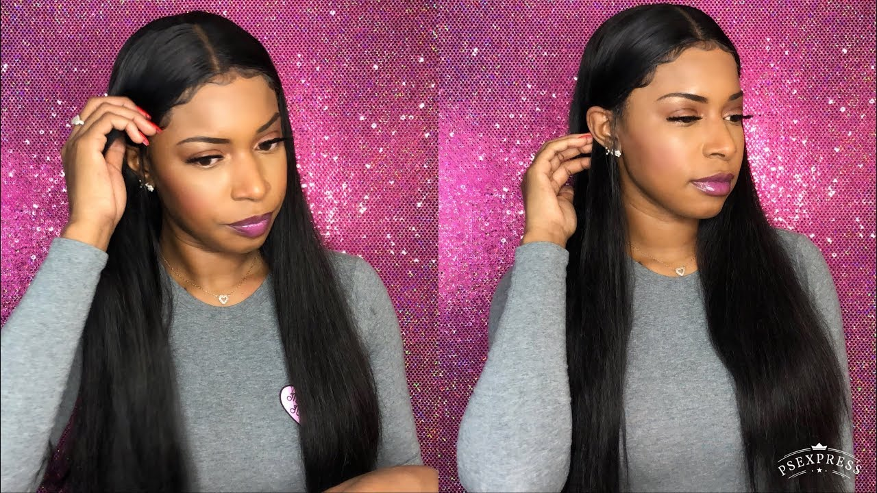 AliExpress Wig | Affordable $117 Bone Straight Pre Plucked Lace Front Wig | Alibele hair - YouTube