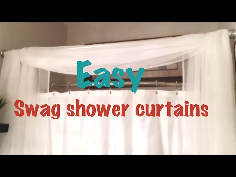 DIY SWAG SHOWER CURTAIN