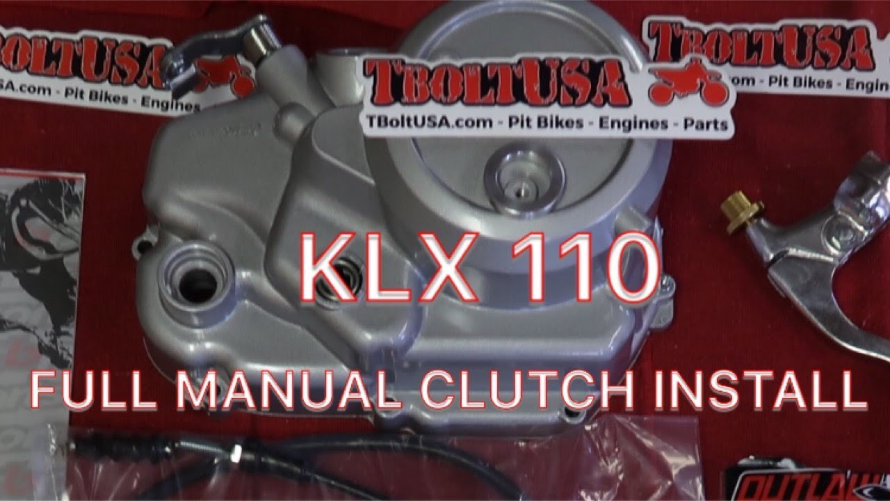 KLX 110 PITBIKE MANUAL CLUTCH INSTALL