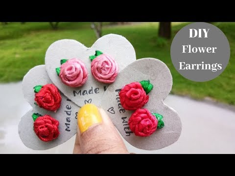 How to Make Flower Earrings / DIY Easy Flower Earrings Tutorial  By Aloha Crafts