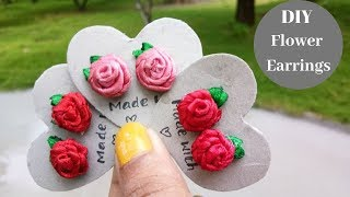 How to make flower earrings. Just imagine that you are wearing your...