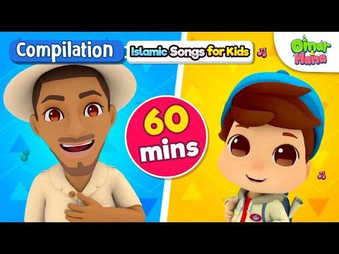 NEW Omar & Hana 60 Minute Compilation | Islamic Cartoon For Kids | Nasheed For Children