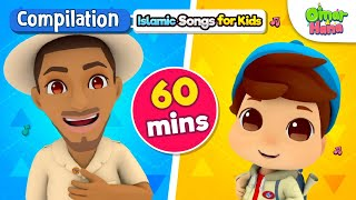 Download NEW Omar & Hana 60 Minute Compilation | Islamic Cartoon for Kids | Nasheed for Children Mp3