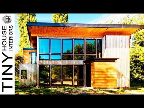 Luxury Shipping Container Home in Washington's Bainbridge Island | Tiny House Interiors