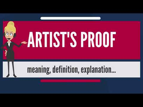 What is ARTIST'S PROOF? What dos ARTIST'S PROOF mean? ARTIST'S PROOF meaning & explanation
