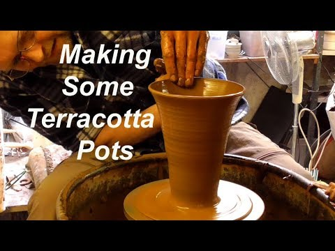 Making some Terracotta Clay Pottery Plant Pots