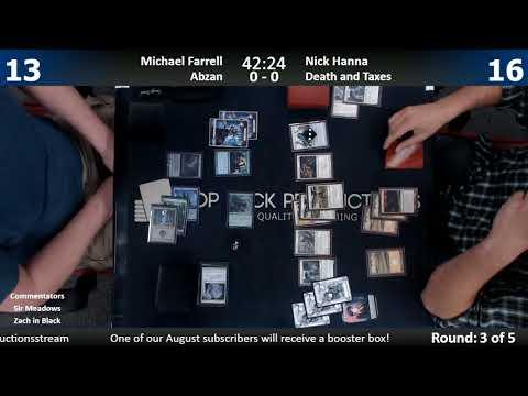 Modern FNM w/ Commentary 9/1/17: Michael Farrell (Abzan) vs. Nick Hanna (Death & Taxes)