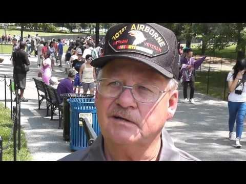 Stirring reception at first ever Honor Flight for Vietnam veterans