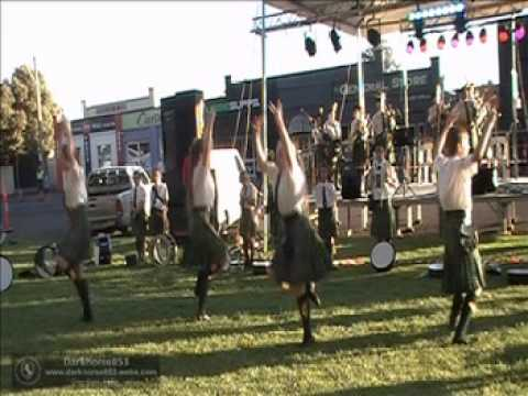 Canberra Celtic Pipe Band Performance @ The Young Cherry Festival 07 12 2013