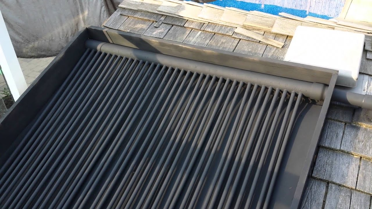 diy solar pool heater part 1 roof youtube