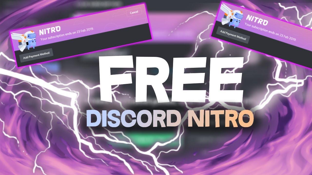 Discord Nitro Free 2019