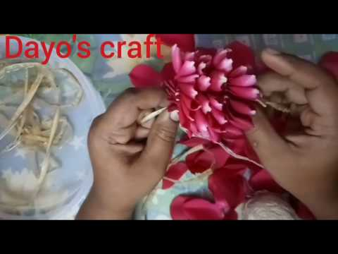 How to string rose petals garland