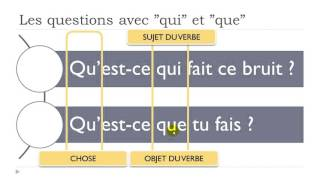 Learn French Today # The questions with QUI and QUE
