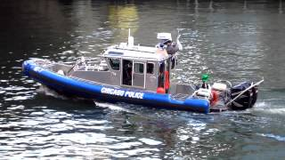 Chicago Police 27-foot Defender class fast patrol boat.