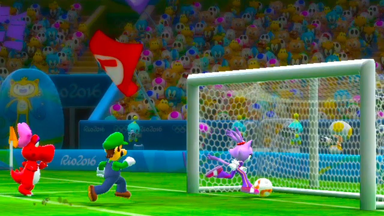 mario and sonic at the 2016 olympic games team bowser jr
