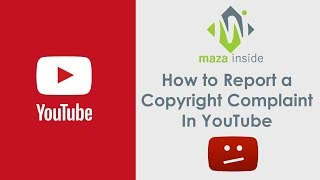 How to Report a Copyright Complaint in YouTube in Hindi / Urdu
