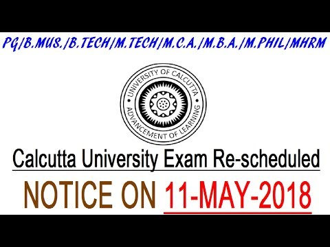 NOTICE  14-MAY-2018  || Calcutta University delayed Exam for Panchayet Election 2018