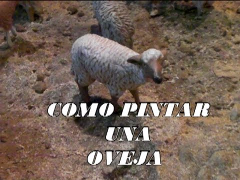 DIY COMO PINTAR UNA OVEJA PARA EL BELEN  PAINTING SHEEP FOR BETHLEHEM  YouTube