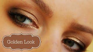 Золотой макияж для загорелой кожи (или голубых глаз) Thumbnail