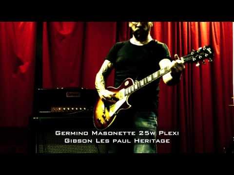 Germino Masonette 25w Plexi with Gibson Les Paul Heritage...