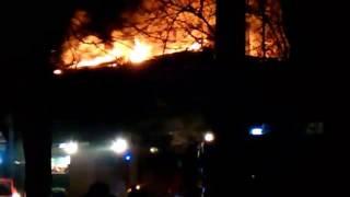 в Таганроге горит двухэтажный дом