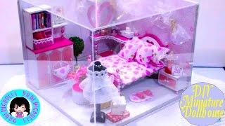 DarlingDolls DIY Dollhouse Mini Bedroom and Music Box Kit Building