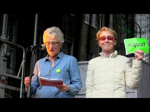 Dublin rally for Marriage €quality - Ann-Louise Gilligan + Katherine Zappone say YES!