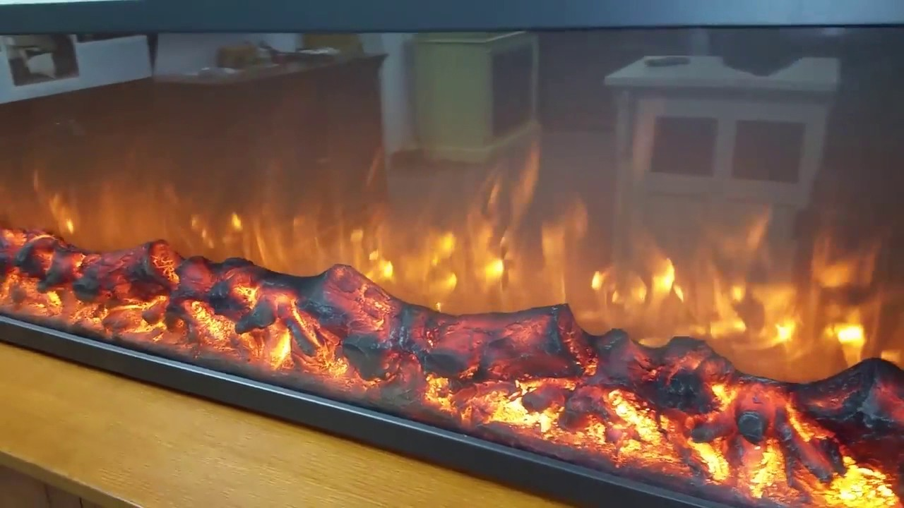 touchstone emblazon series frameless built in electric fireplace