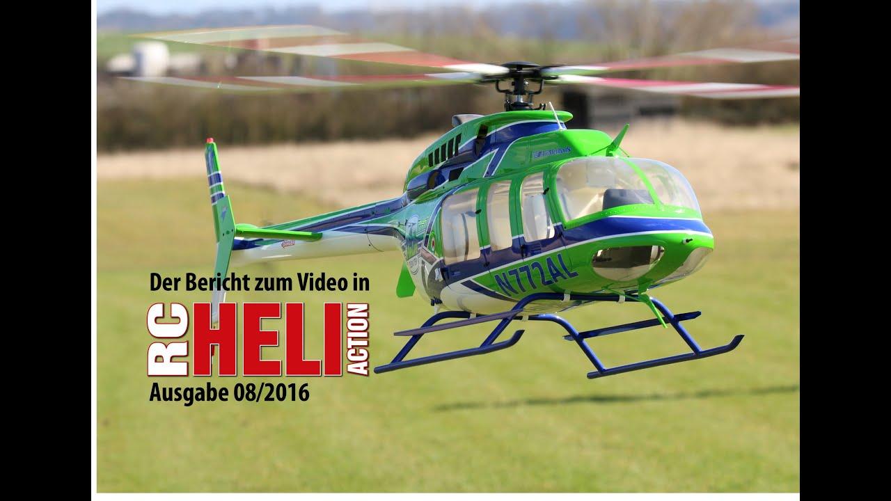 RC-Heli-Action: Super-Scale-Bell 407 von Roban