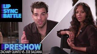 Zoe Saldana vs. Zachary Quinto (Preshow from Guys Choice: Perfect 10) | Lip Sync Battle