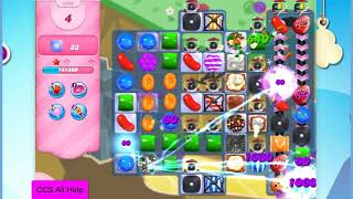 Candy Crush Saga Level 2846 16 moves NO BOOSTERS Cookie