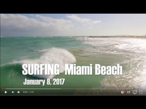 Surfing -  Miami Beach - South Beach - January 2017 - Test