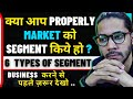 6 Types Of Segment In Market || बाजार में 6 प्रकार खंड || Hindi || #4minutemarketing