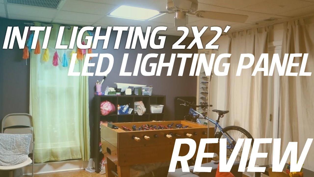 INTI LIGHTING 2 x2 6500k 52W LED Flat Panel Light REVIEW