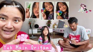 Family Time | Asyiknya Main Origami Bersama | Membuat Roket - Baju - Love