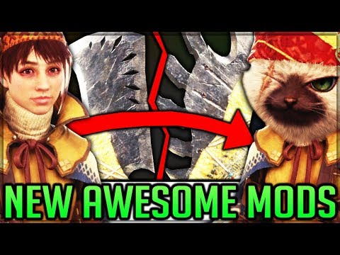 Custom Weapon Models + Required Model Swaps  Monster Hunter World Top PC Mods! #mhw #mhwmods