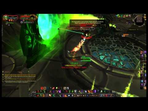 WoW Warlock Green Fire Quest End Boss - Versus Kanrethad Ebonlocke (5.4)