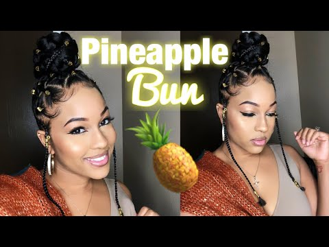 How To: Bun With Braiding Hair | Stylish Pineapple Bun