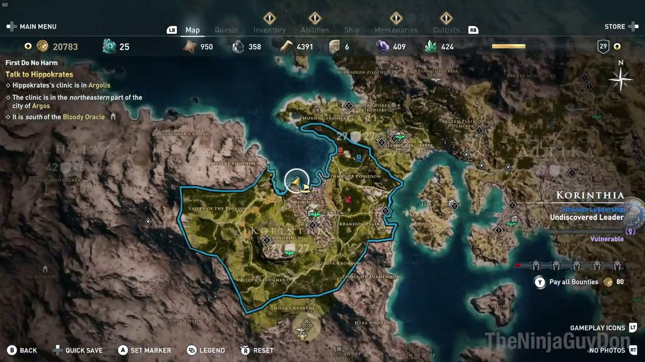 Turning Tides Assassin S Creed Odyssey Statue Of Poseidon In Korinth Location