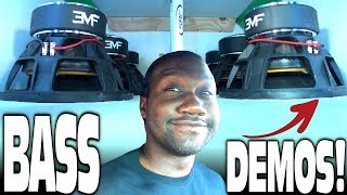 """BLOWN AWAY"" by 8"" Subwoofers!?!? Crazy LOUD Car Audio BASS DEMOS & Extreme CUSTOM Sub Box Designs"