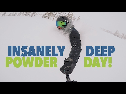 INSANELY DEEP POWDER DAY at Castle Mountain!