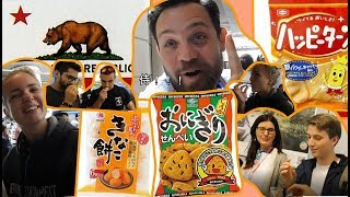 L.A.で外国人にお菓子を勧めてきたForeign people trying Japanese rice cracker in Los Angeles