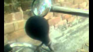 Big Low Pitched Cycle Rickshaw Bulb Horn 1 with Large Loop - 3 (three) blasts