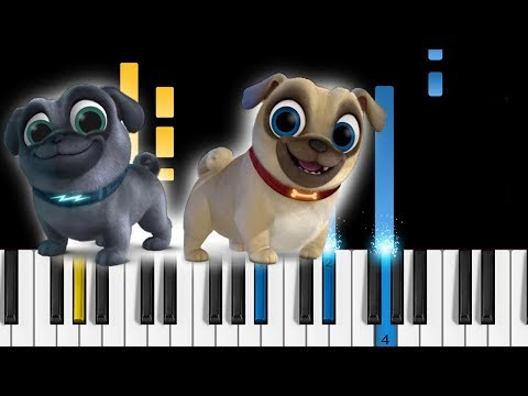 Puppy Dog Pals Theme Song Easy Piano Tutorial Youtube