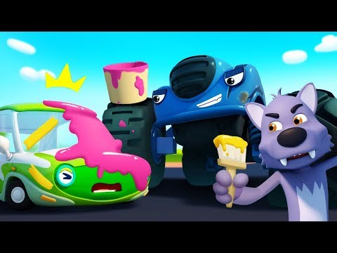 Monster Police Car Chases Trouble Maker  Police Cartoon  Nursery Rhymes  Kids Songs  BabyBus