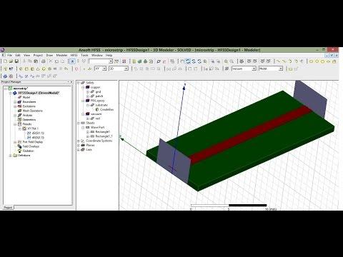 Microstrip line design in HFSS 13 (Part1)
