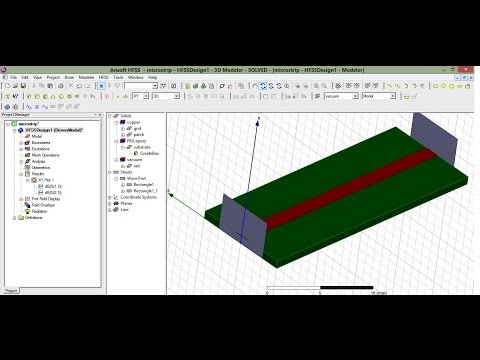 Microstrip line design in HFSS 13 (Part1) (USE Captions: CC)
