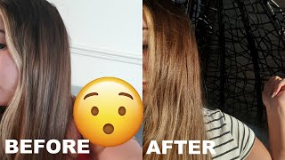 HOW TO DIY LIGHTEN YOUR HAIR NATURALLY AT HOME | IT REALLY WORKS! | Evin Yalcin
